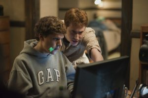"""Jesse Eisenberg, left, and Joseph Mazzello  in Columbia Pictures' """"The Social Network."""""""